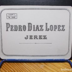Etiquetas antiguas: ETIQUETA DE UNA BODEGA DE JEREZ DE LA FRONTERA .... ANTIGUA.. Lote 176873297