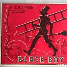 Etiquetas antiguas: ETIQUETA DE NARANJAS BLACK BOY. Lote 177134780