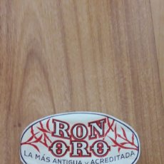 Etiquetas antiguas: ETIQUETA RON ORO. LLUBÍ. MALLORCA. DÉCADA 1950. Lote 177742790