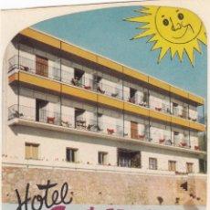 Etiquetas antiguas: ETIQUETA DE HOTEL. SANTA MÓNICA.TORREMOLINOS. MÁLAGA. Lote 178601950