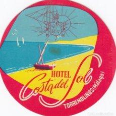 Etiquetas antiguas: ETIQUETA DE HOTEL. COSTA DEL SOL.TORREMOLINOS. MÁLAGA. Lote 178605820