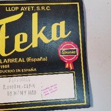 Etiquetas antiguas: YOP AAYET S.R.C.-TEKA VILLARREAL. Lote 178661482