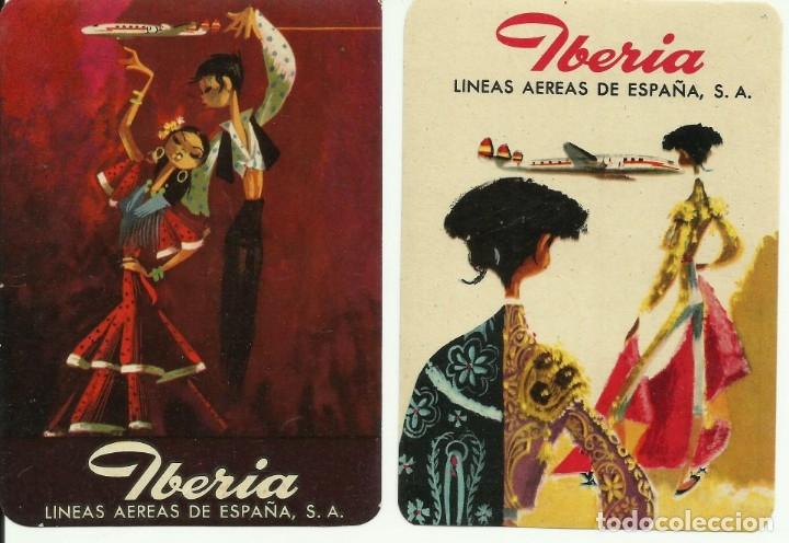 ANTIGUAS ETIQUETAS ENGOMADAS PARA MALETAS PUBLICIDAD IBERIA LINEAS AEREAS S.A. (Coleccionismo - Etiquetas)