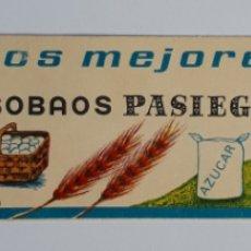 Etiquetas antiguas: REVILLA DE CAMARGO (SANTANDER) SOBAOS PASIEGOS PENAGOS. Lote 179062930