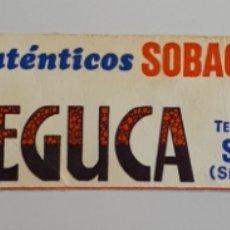 Etiquetas antiguas: SELAYA (SANTANDER) SOBAOS MONTAÑESES LA PASIEGUCA.. Lote 179063241