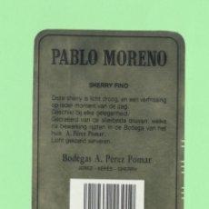 Etiquetas antiguas: ETIQUETA ORIGINAL: SHERRY FINO - BODEGAS POMAR - 10,5 X 7,5 CM - NUEVA SIN USO.. Lote 179525706
