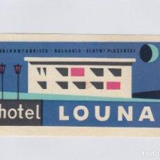 Etiquetas antiguas: ETIQUETA DEL HOTEL LOUNA. ZLATNI PIASSATZI, BULGARIA.. Lote 179534920
