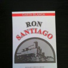 Etiquetas antiguas: CUBA ETIQUETA RON SANTIAGO. Lote 194584528