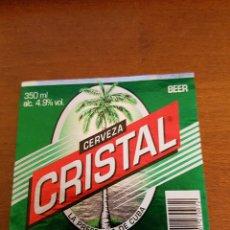 Etiquetas antiguas: CUBA ETIQUETA CERVEZA CRISTAL. Lote 194694831