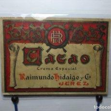 Etiquetas antiguas: ETIQUETA DE UNA BODEGA DE JEREZ FRA..... ANTIGUA. Lote 180290918
