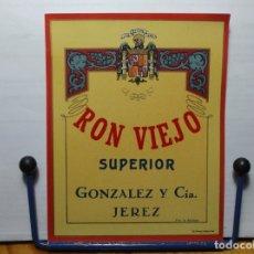 Etiquetas antiguas: ETIQUETA DE UNA BODEGA DE JEREZ DE LA FRONTERA.... ANTIGUA. Lote 180291027