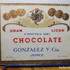 Etiquetas antiguas: ETIQUETA DE UNA BODEGA DE JEREZ DE LA FRONTERA.... ANTIGUA. Lote 180291073