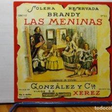 Etiquetas antiguas: ETIQUETA DE UNA BODEGA DE JEREZ DE LA FRONTERA.... ANTIGUA. Lote 180297037