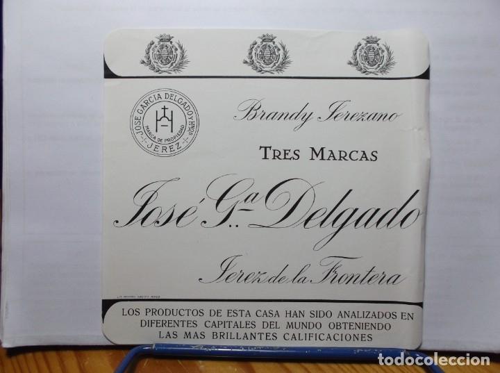 ETIQUETA DE UNA BODEGA JEREZ.... ANTIGUA (Coleccionismo - Etiquetas)