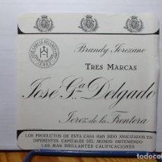 Etiquetas antiguas: ETIQUETA DE UNA BODEGA JEREZ.... ANTIGUA. Lote 180297787