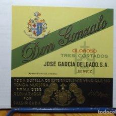 Etiquetas antiguas: ETIQUETA DE UNA BODEGA JEREZ.... ANTIGUA. Lote 180297956