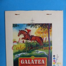 Etiquetas antiguas: GALATEA, COLORES SUPERIORES - PRUEBA IMPRENTA LITOGRAFIA ORTEGA VALENCIA - AÑOS 1950-60. Lote 180484116