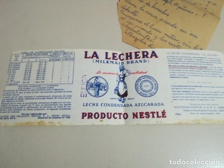 ETIQUETA LA LECHERA 1964, COMO SE VE EN LA FOTO REG. GAR 142 (Coleccionismo - Etiquetas)