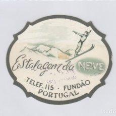 Etiquetas antiguas: ETIQUETA DEL HOTEL ESTALAGEM DA NEVE. FUNDAO, PORTUGAL.. Lote 181778285