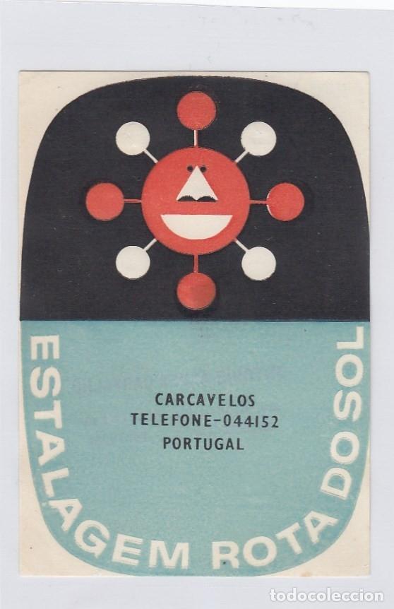 ETIQUETA DEL HOTEL ESTALAGEM ROTA DO SOL. CARCAVELOS, PORTUGAL. (Coleccionismo - Etiquetas)