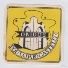 Etiquetas antiguas: ETIQUETA DEL HOTEL POUSADA DO CASTELO, PORTUGAL.. Lote 182027412