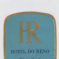 Etiquetas antiguas: ETIQUETA DEL HOTEL DO RENO. LISBOA, PORTUGAL.. Lote 182631690