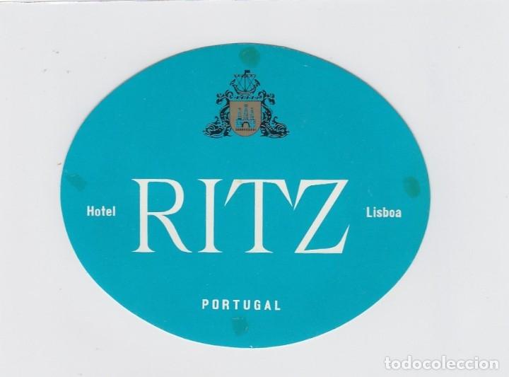 ETIQUETA DEL HOTEL RITZ. LISBOA, PORTUGAL. (Coleccionismo - Etiquetas)