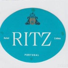 Etiquetas antiguas: ETIQUETA DEL HOTEL RITZ. LISBOA, PORTUGAL.. Lote 182643457