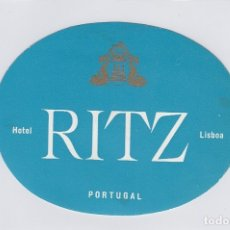 Etiquetas antiguas: ETIQUETA DEL HOTEL RITZ. LISBOA, PORTUGAL.. Lote 182643477