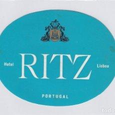 Etiquetas antiguas: ETIQUETA DEL HOTEL RITZ. LISBOA, PORTUGAL.. Lote 182643505