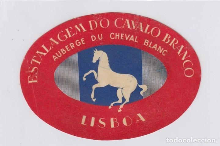 ETIQUETA DEL HOTEL ESTALAGEM DO CAVALO BRANCO. LISBOA, PORTUGAL. (Coleccionismo - Etiquetas)