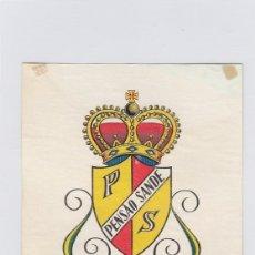 Etiquetas antiguas: ETIQUETA DEL HOTEL PENSAO SANDE. LISBOA, PORTUGAL.. Lote 182895308