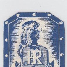 Etiquetas antiguas: ETIQUETA DEL HOTEL DO RENO. LISBOA, PORTUGAL.. Lote 182895641