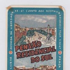 Etiquetas antiguas: ETIQUETA DEL HOTEL PENSAO RESIDENCIAL DO SUL. LISBOA, PORTUGAL.. Lote 182904065