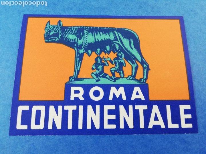ETIQUETA HOTEL ROMA CONTINENTALE ITALIA LUGGAGE LABEL. (Coleccionismo - Etiquetas)