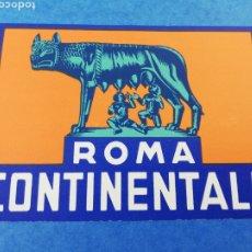 Etiquetas antiguas: ETIQUETA HOTEL ROMA CONTINENTALE ITALIA LUGGAGE LABEL.. Lote 182976041