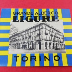 Etiquetas antiguas: ANTIGUA ETIQUETA HOTEL GRANDE ALBERGO LIGURE TORINO TURIN ITALIA LUGGAGE LABEL.. Lote 182978012