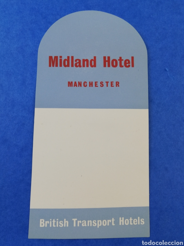 Etiquetas antiguas: ANTIGUA ETIQUETA MIDLAND HOTEL MANCHESTER BRITISH TRANSPORT HOTELS INGLATERRA LUGGAGE LABEL. - Foto 1 - 182978181