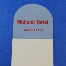 Etiquetas antiguas: ANTIGUA ETIQUETA MIDLAND HOTEL MANCHESTER BRITISH TRANSPORT HOTELS INGLATERRA LUGGAGE LABEL.. Lote 182978181