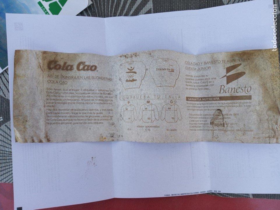 Etiquetas antiguas: ETIQUETA COLACAO 1991 PUBLICIDAD BANESTO - Foto 2 - 182981322