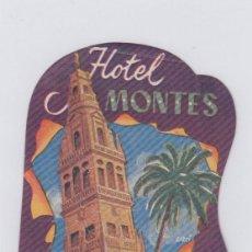 Étiquettes anciennes: ETIQUETA DEL HOTEL MONTES. CÓRDOBA.. Lote 183948347