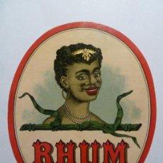 Etiquetas antiguas: ETIQUETA ORIGINAL RON RHUM FINE JAMAIQUE. Lote 184665491