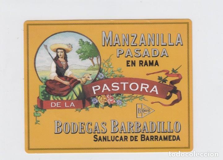 ETIQUETA DE VINO. MANZANILLA PASADA EN RAMA DE LA PASTORA.BODEGAS BARBADILLO. SANLUCAR DE BARRAMEDA. (Coleccionismo - Etiquetas)