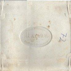 Etiquetas antiguas: PINOSO (ALICANTE) - BANDEJA CONFITERÍA PASTELERÍA MARIAN MUY ANTIGUA CON TELÉFONO 159. Lote 185740008