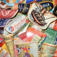 Etiquetas antiguas: HOTELES, FONDAS, PENSIONES, POSADAS. COLECCIÓN 63 ETIQUETAS. VER FOTOGRAFÍAS. BONITA Y CURIOSA. ESP.. Lote 189264492