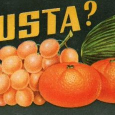 Etiquetas antiguas: ETIQUETA DE NARANJAS DE CASTELLÓN ¿UD. GUSTA? 243X95 M/M.. Lote 190390936