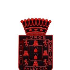 Etiquetas antiguas: PALENCIA.- HOTEL JORGE MANRIQUE. ETIQUETA.. Lote 190807698
