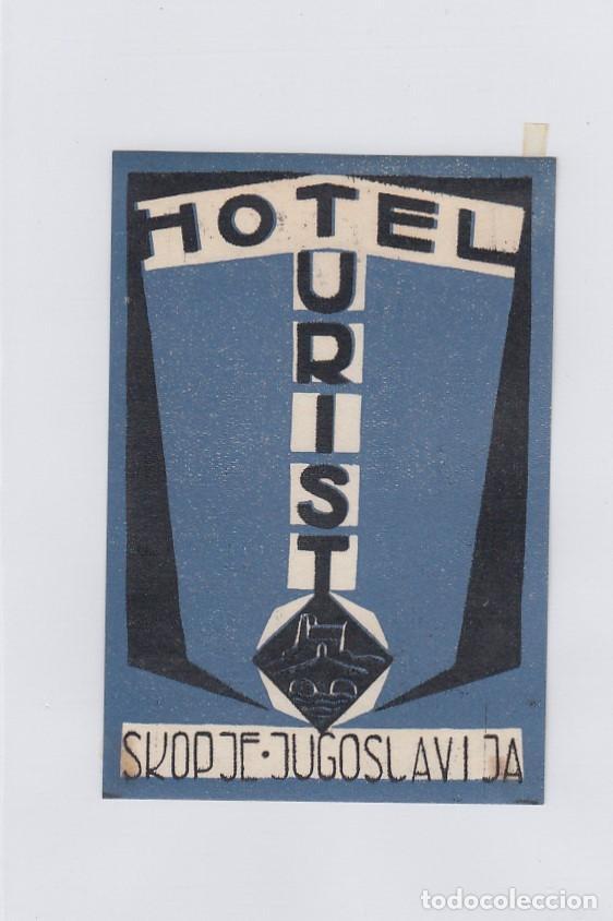 ETIQUETA DEL HOTEL TURIST. SKOPJE, YUGOSLAVIA. (Coleccionismo - Etiquetas)