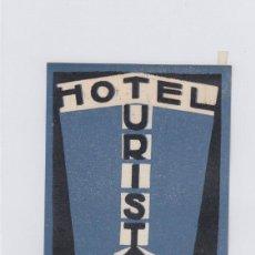 Etiquetas antiguas: ETIQUETA DEL HOTEL TURIST. SKOPJE, YUGOSLAVIA.. Lote 191090323