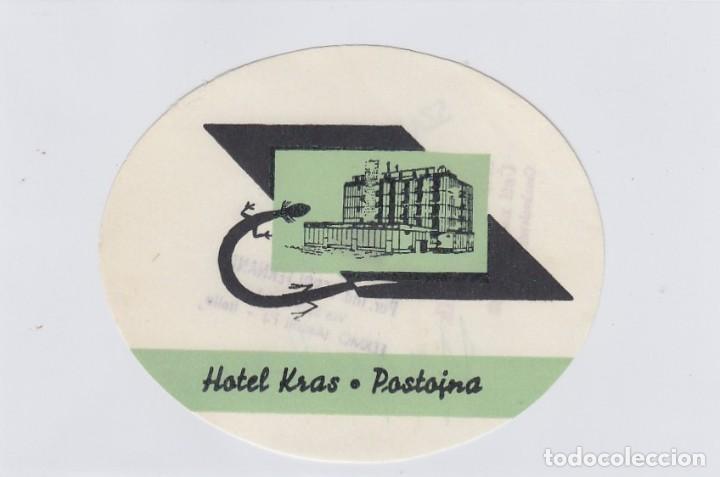 ETIQUETA DEL HOTEL KRAS. POSTOJNA, YUGOSLAVIA. (Coleccionismo - Etiquetas)